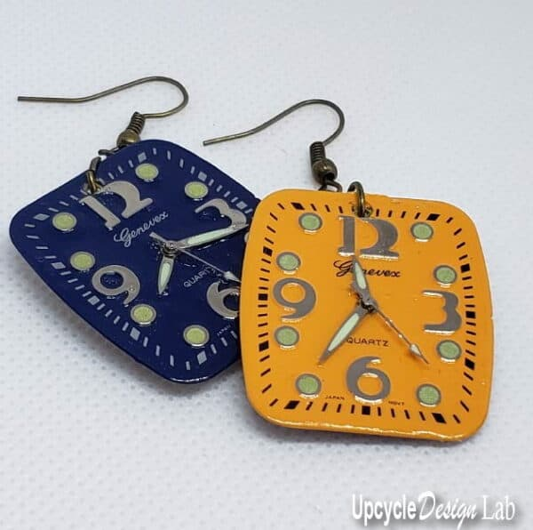 Simple Watch Face Earrings (Version 2) 7 • Upcycled Jewelry Ideas