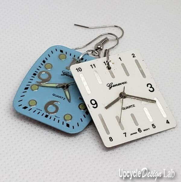 Simple Watch Face Earrings (Version 2) 9 • Upcycled Jewelry Ideas