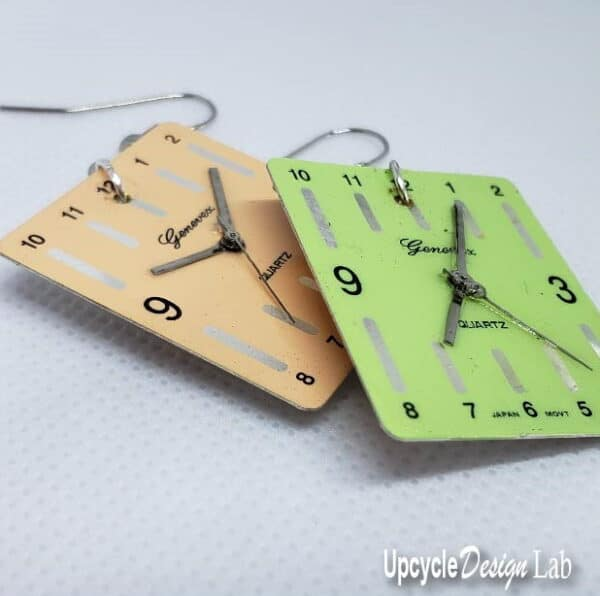 Simple Watch Face Earrings (Version 2) 1 • Upcycled Jewelry Ideas