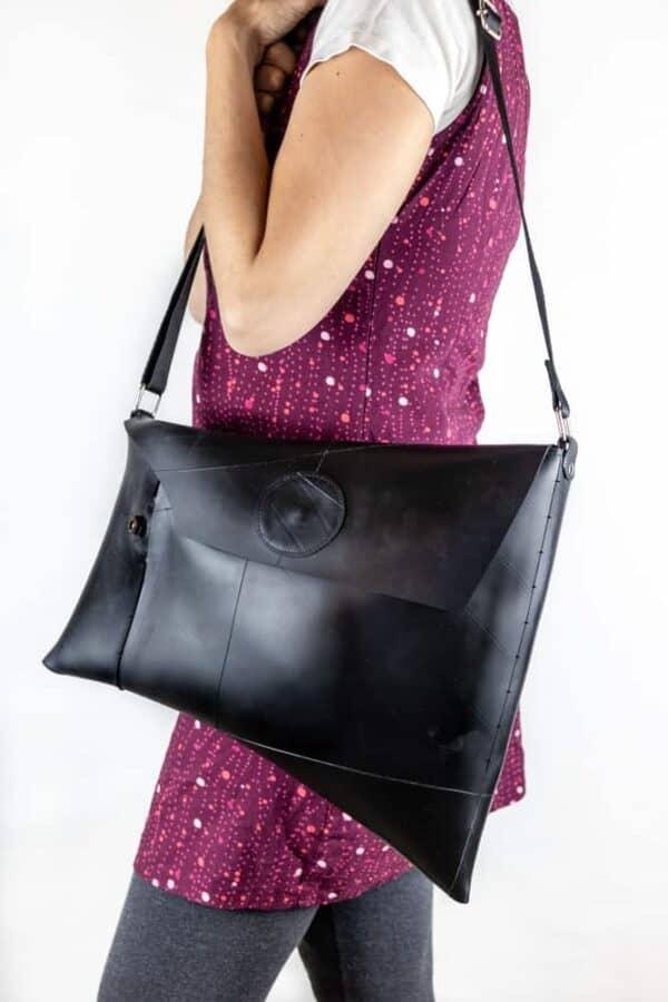 Upcycled Innertube Crossbody Bag 1 • Accessories