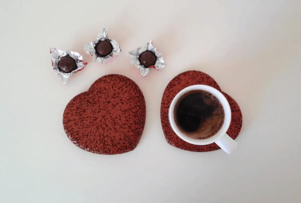Cup Coasters - Not Only on Valentine's Day 1 • Recycled Rubber