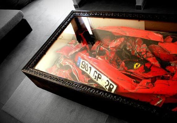 Charly-Molinelli-Crashed-Ferrari-Table-C