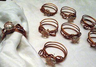CopperWrapNapkinRings