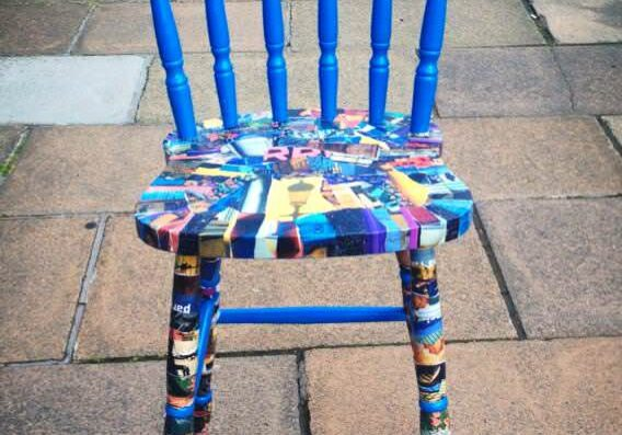 Decoupage-chair