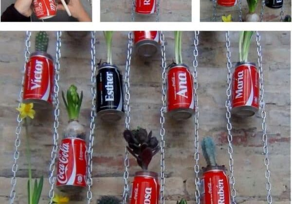 How-to-make-a-Vertical-Garden-with-Coke-Cans