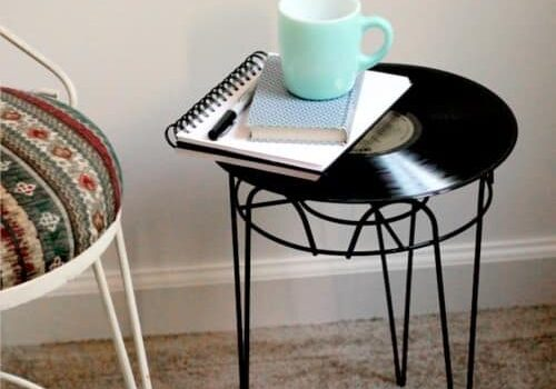 LP-record side table