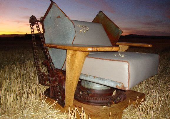 Wheat back chair side view