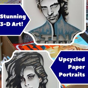 recyclart.org-3-d-upcycled-paper-wall-art-pieces-amp-portraits-01