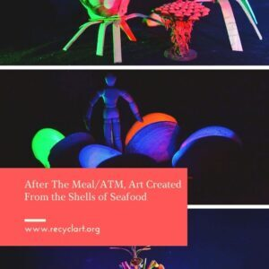 After The Meal/ATM, Art Created From the Shells of Seafood