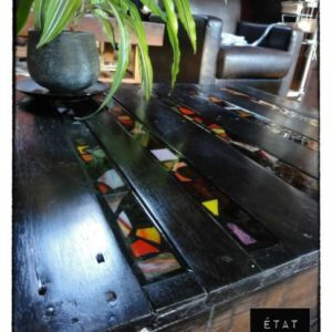 Black pallets coffee table 1