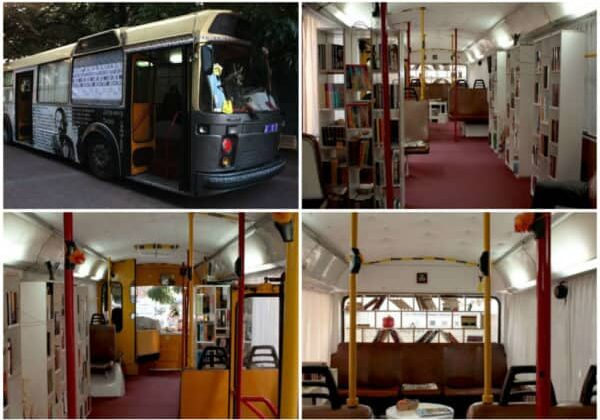 Bus Transformed Into Public Library 1