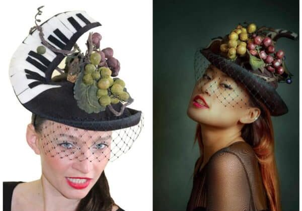 Cork Recycled Art Piano Hat 1