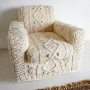 knitted armchair slipcover