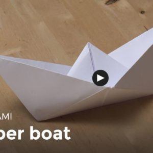 What a great rainy day activity for the whole family! With a terrific DIY Video Tutorial series ranging from the basics like this adorable paper boat to moving & puffing shapes or critters, you're sure to learn and have fun at the same time!