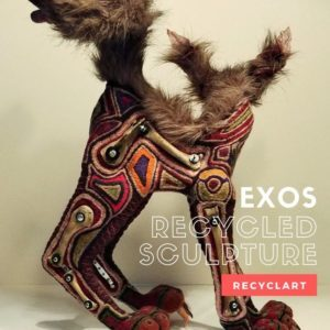 Exos Recycled Sculpture