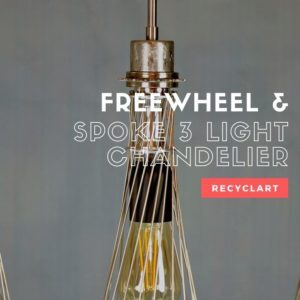 Freewheel & Spoke 3 Light Chandelier