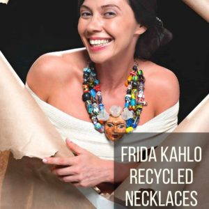 Frida Kahlo Recycled Necklaces