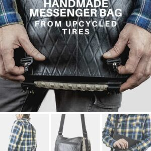 Handmade Messenger Bag From Upcycled Tires