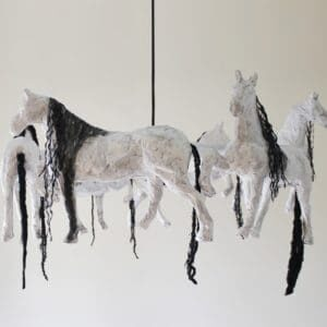 recyclart.org-horse-paper-mache-pendant-lamp