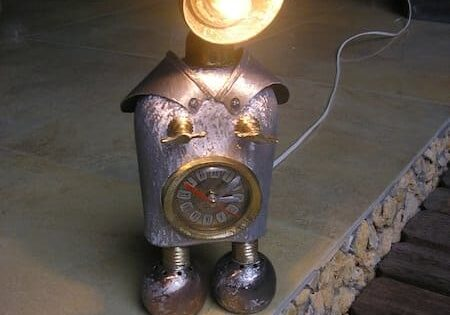 iron penguins lamp