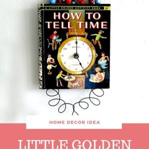Golden-book-clock