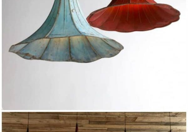 Pending Lamps From Recycled Gramophones 1