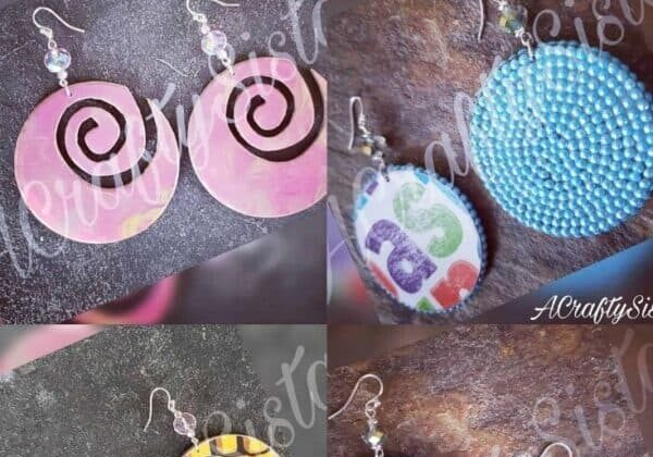 Recycled Cereal Box Earrings