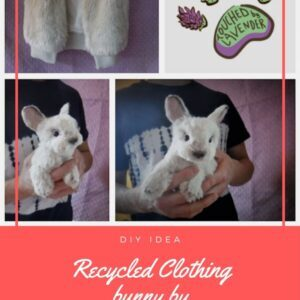 Recycled Clothing bunny by TouchedbyLavender