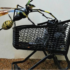 Recycled Plastic Wasp Sculpture