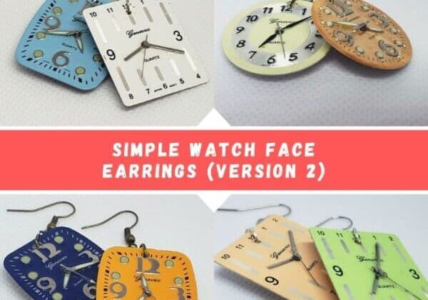 Simple Watch Face Earrings (Version 2)