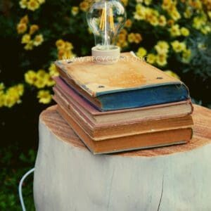 Stacked Books Lamp