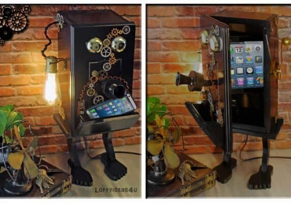 recyclart.org-steampunk-gears-whimsical-wood-black-telephone-upcycled-2-port-usb-charger-lamp1