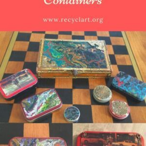 Upcycled Artsy Containers