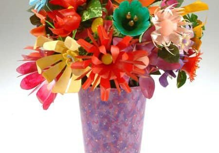 pop bottle flowers