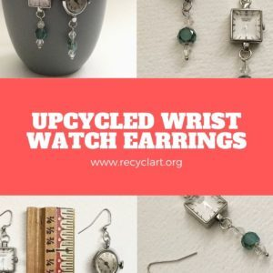 Upcycled Wrist Watch Earrings