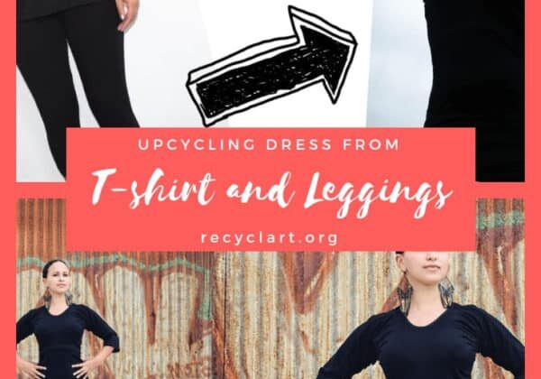 Upcycling Dress from T-shirt and Leggings