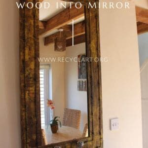 Vintage Drawer Handles & Pallet Wood Into Mirror