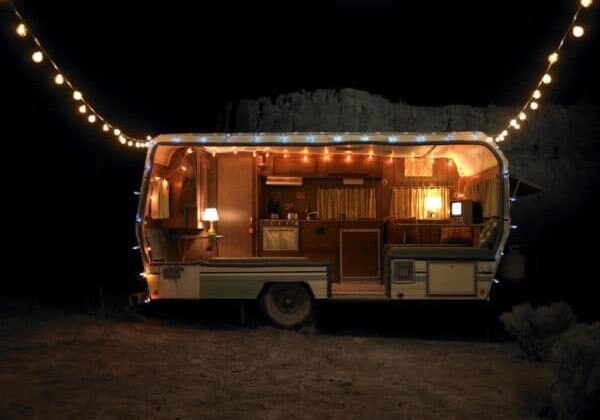 trailer with lights